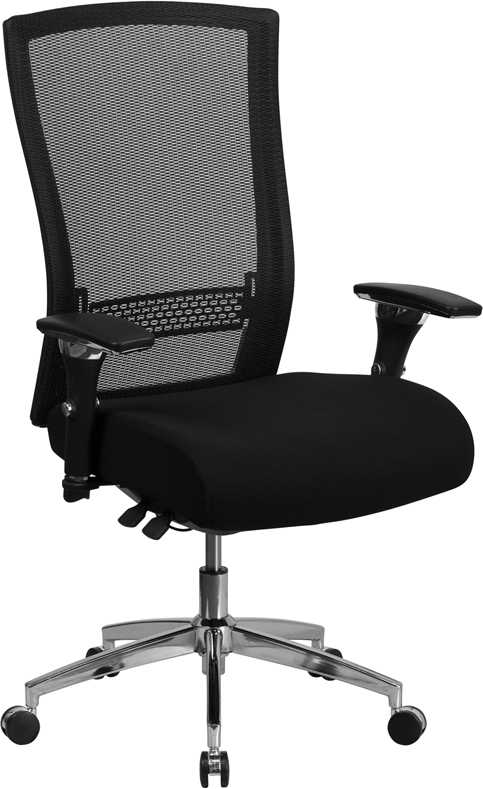 Ergonomic Home TOUGH ENOUGH Series 24/7 Multi-Shift, 300 lb. Capacity High Back Black Mesh Multi-Functional Executive Swivel Chair with Seat Slider EH-GO-WY-85H-GG <b><font color=green>50% Off Read More Below...</font></b>
