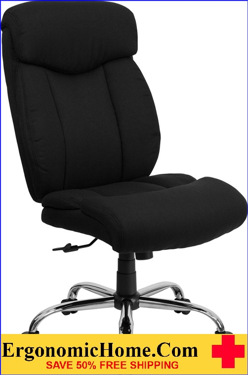 Ergonomic Home TOUGH ENOUGH Series 400 lb. Capacity Big & Tall Black Fabric Executive Swivel Office Chair EH-GO-1235-BK-FAB-GG <b><font color=green>50% Off Read More Below...</font></b>