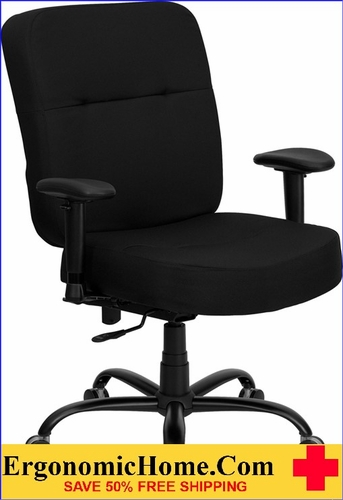 Ergonomic Home TOUGH ENOUGH Series 400 Lb. Capacity Big U0026 Tall Black Fabric  Executive Swivel