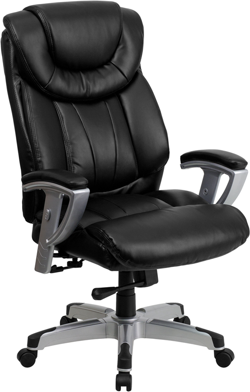 Ergonomic Home TOUGH ENOUGH Series 400 lb. Capacity Big & Tall Black Leather Executive Swivel Office Chair with Height & Width Adjustable Arms EH-GO-1534-BK-LEA-GG <b><font color=green>50% Off Read More Below...</font></b>