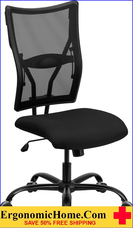 Ergonomic Home TOUGH ENOUGH Series 400 lb. Capacity Big & Tall Black Mesh Executive Swivel Office Chair EH-WL-5029SYG-GG <b><font color=green>50% Off Read More Below...</font></b>