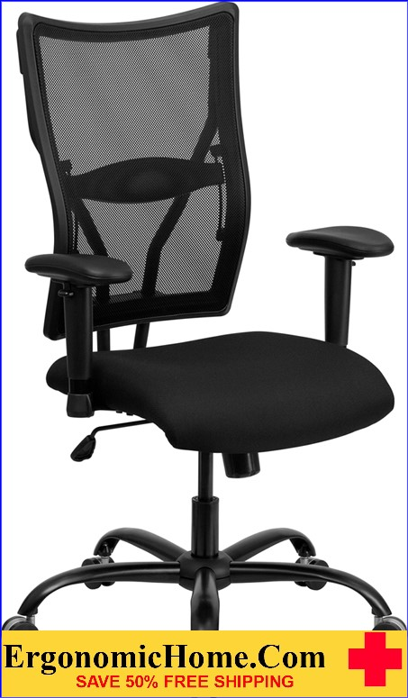 Ergonomic Home TOUGH ENOUGH Series 400 Lb. Capacity Big U0026 Tall Black Mesh  Executive Swivel