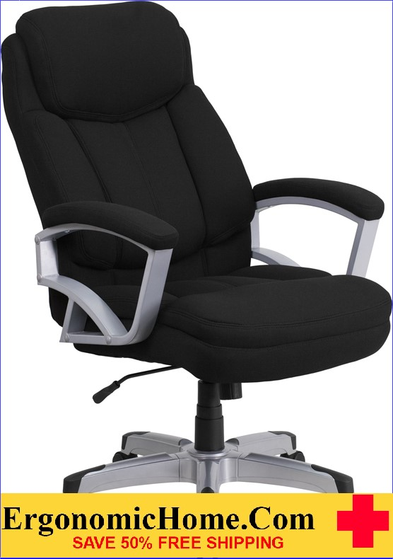 Ergonomic Home TOUGH ENOUGH Series 500 lb. Capacity Big & Tall Black Fabric Executive Swivel Office Chair EH-GO-1850-1-FAB-GG <b><font color=green>50% Off Read More Below...</font></b>