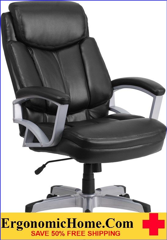 office chair images. Ergonomic Home TOUGH ENOUGH Series 500 Lb. Capacity Big \u0026 Tall Black Leather Executive Swivel Office Chair Images