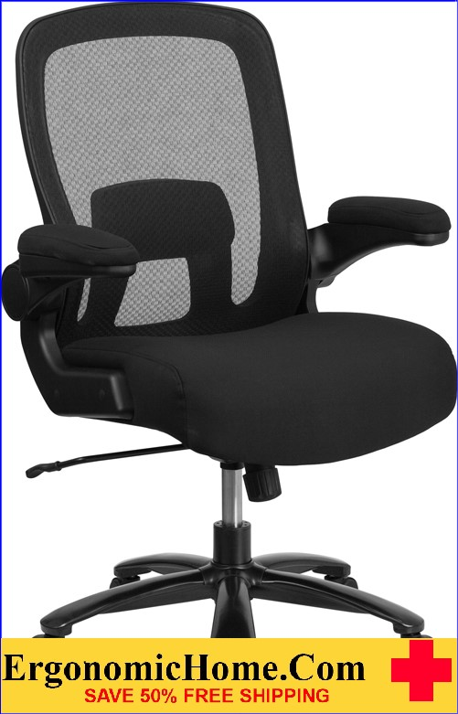 Ergonomic Home Tough Enough Series 500 Lb Capacity Tall Black Mesh Executive Swivel