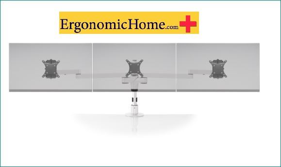 Ergonomic Home Innovative Staxx Triple Adjustable Monitor Arm W/Busby USB</font></b>