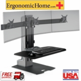 Ergonomic Home Innovative Winston Electric Motorized Triple Monitor Stand. Free Standing No Drilling #WNSTE-3-270. <font color=#c60>Read More</font>