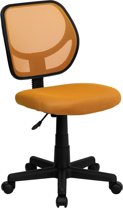 Ergonomic Home Low Back Orange Mesh Swivel Task Chair EH-WA-3074-OR-GG <b><font color=green>50% Off Read More Below...</font></b>