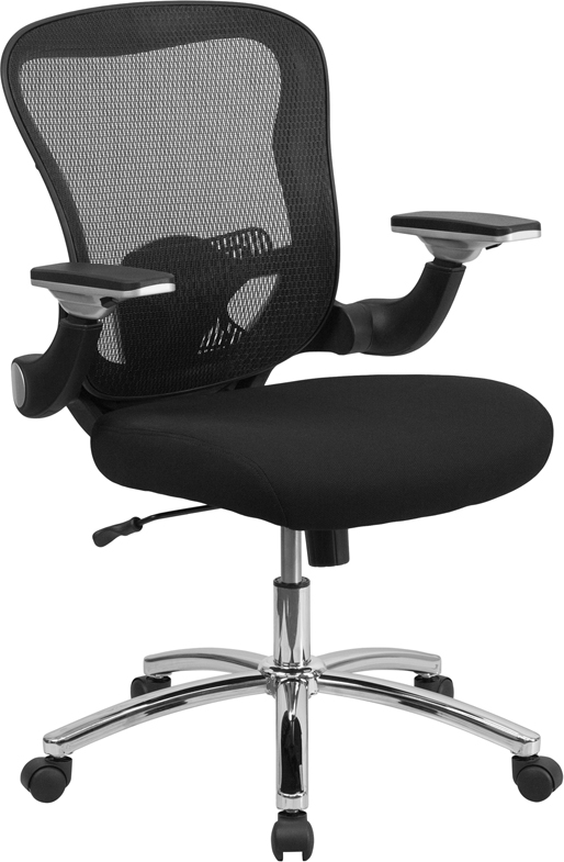 Ergonomic Home Mid-Back Black Mesh Executive Swivel Office Chair with Mesh Padded Seat and Height Adjustable Flip-Up Arms EH-GO-WY-87-2-GG  <b><font color=green>50% Off Read More Below...</font></b>