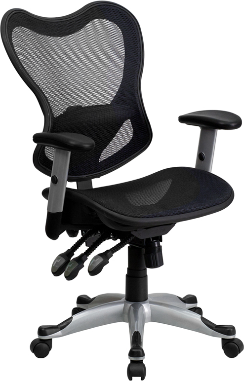 Ergonomic Home Mid-Back Black Mesh Executive Swivel Office Chair with Triple Paddle Control EH-GO-WY-55-GG <b><font color=green>50% Off Read More Below...</font></b>