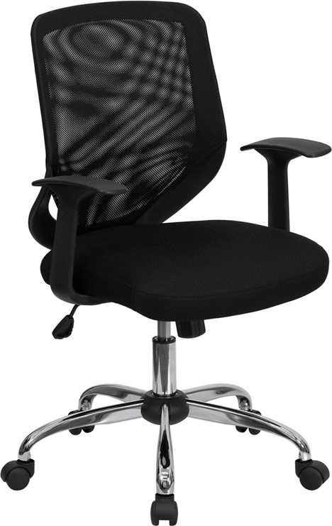 </b></font>Ergonomic Home Mid-Back Black Mesh Swivel Task Chair with Mesh Padded Seat EH-LF-W95-MESH-BK-GG <b></font>. </b></font></b>