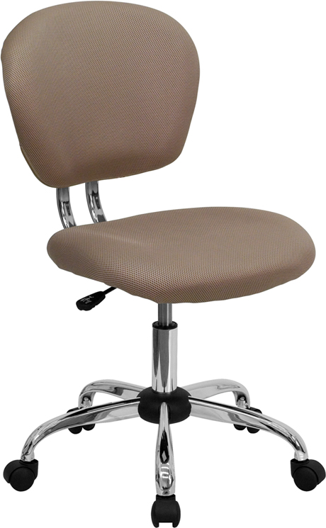 Ergonomic Home Mid-Back Coffee Brown Mesh Swivel Task Chair with Chrome Base EH-H-2376-F-COF-GG <b><font color=green>50% Off Read More Below...</font></b>