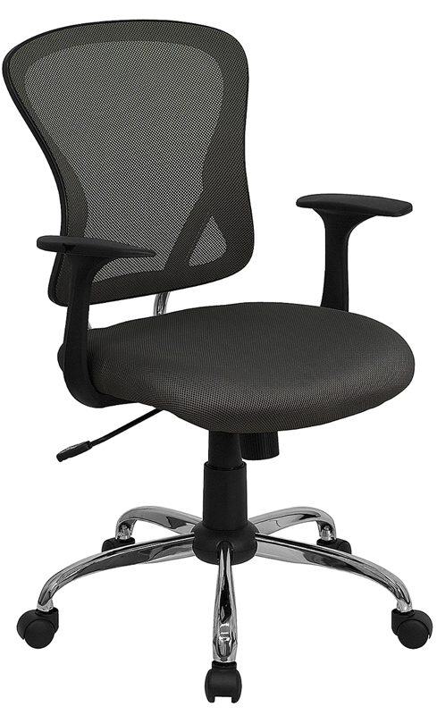 Ergonomic Home Mid-Back Dark Gray Mesh Swivel Task Chair with Chrome Base EH-H-8369F-DK-GY-GG <b><font color=green>50% Off Read More Below...</font></b>
