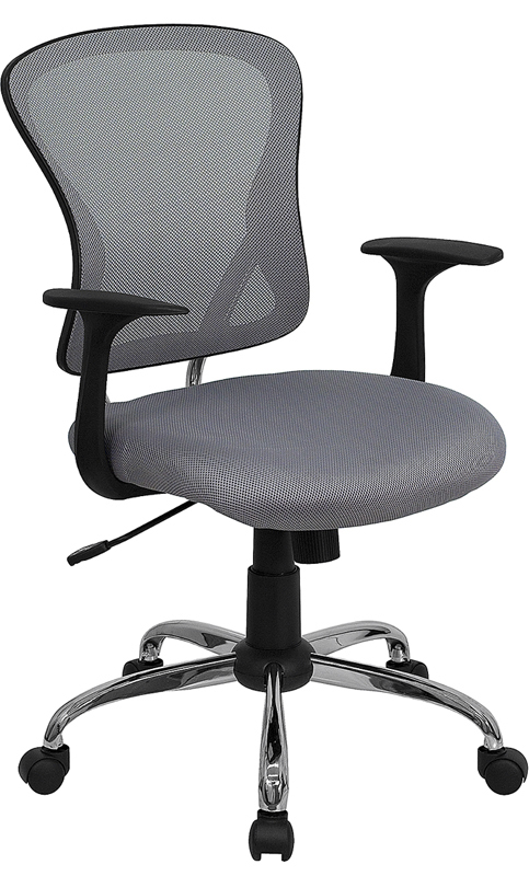Ergonomic Home Mid-Back Gray Mesh Swivel Task Chair with Chrome Base EH-H-8369F-GY-GG <b><font color=green>50% Off Read More Below...</font></b>