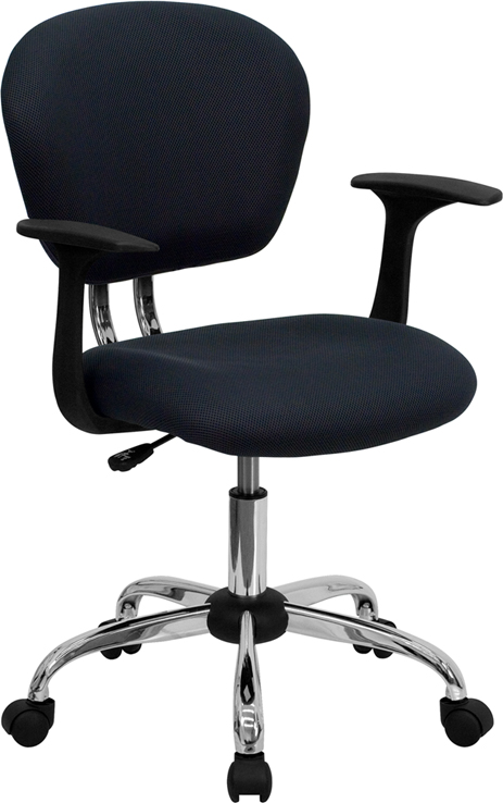 Ergonomic Home Mid-Back Gray Mesh Swivel Task Chair with Chrome Base and Arms EH-H-2376-F-GY-ARMS-GG <b><font color=green>50% Off Read More Below...</font></b>