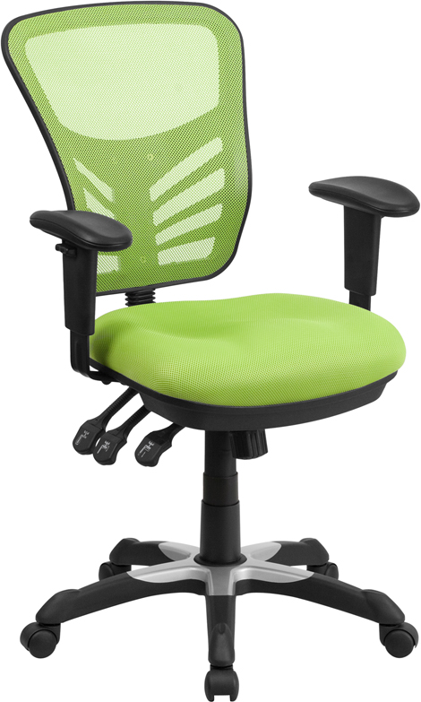 Ergonomic Home Mid-Back Green Mesh Swivel Task Chair with Triple Paddle Control EH-HL-0001-GN-GG <b><font color=green>50% Off Read More Below...</font></b>