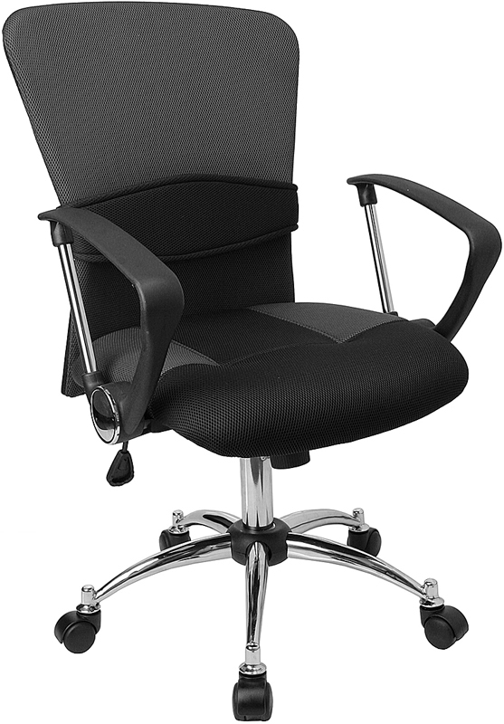 Ergonomic Home Mid-Back Grey Mesh Swivel Task Chair EH-LF-W23-GREY-GG <b><font color=green>50% Off Read More Below...</font></b>