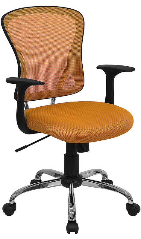 Ergonomic Home Mid-Back Orange Mesh Swivel Task Chair with Chrome Base EH-H-8369F-ORG-GG <b><font color=green>50% Off Read More Below...</font></b>