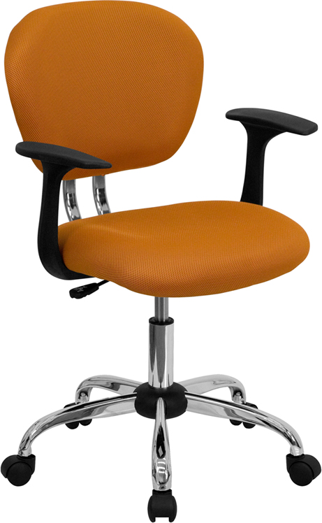 Ergonomic Home Mid-Back Orange Mesh Swivel Task Chair with Chrome Base and Arms EH-H-2376-F-ORG-ARMS-GG <b><font color=green>50% Off Read More Below...</font></b>