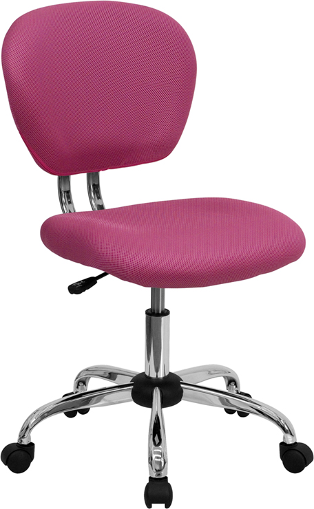 Ergonomic Home Mid-Back Pink Mesh Swivel Task Chair with Chrome Base EH-H-2376-F-PINK-GG <b><font color=green>50% Off Read More Below...</font></b>