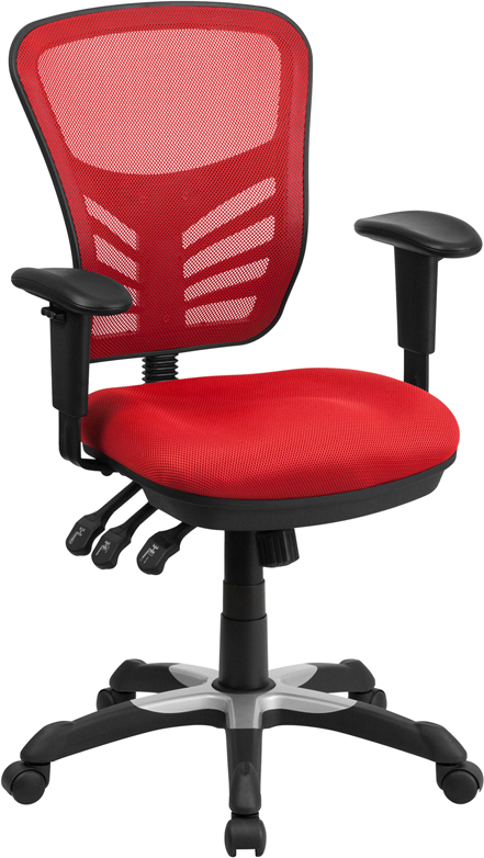 Ergonomic Home Mid-Back Red Mesh Swivel Task Chair with Triple Paddle Control EH-HL-0001-RED-GG <b><font color=green>50% Off Read More Below...</font></b>