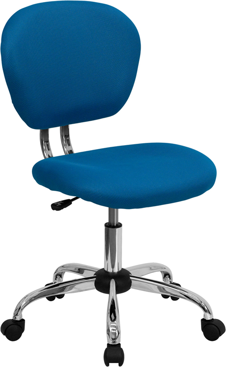 Ergonomic Home Mid-Back Turquoise Mesh Swivel Task Chair with Chrome Base EH-H-2376-F-TUR-GG <b><font color=green>50% Off Read More Below...</font></b>