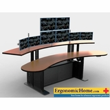 Ergonomic Home Viking Adjustable Dispatch Consoles