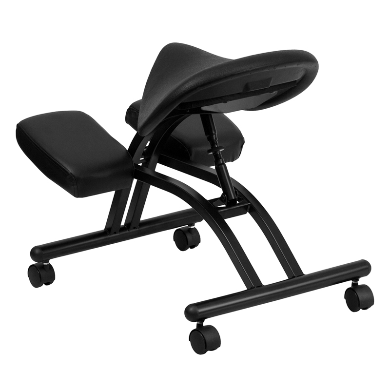 sc 1 st  Ergonomic Home & Ergonomic Kneeling Chair with Black Saddle Seat