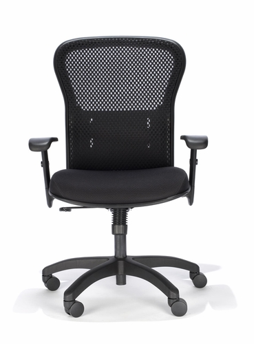 RFM Ergonomic Black Mesh Chair #RFM-161Q Packed w/Features Common On Expensive Mesh Office Chairs.
