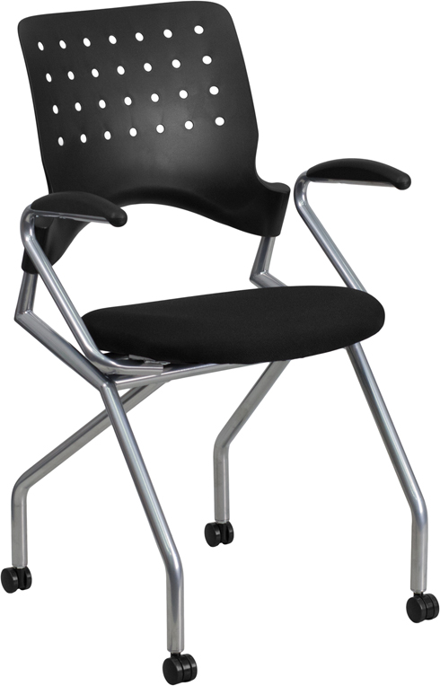 Galaxy Mobile Nesting Chair with Arms and Black Fabric Seat