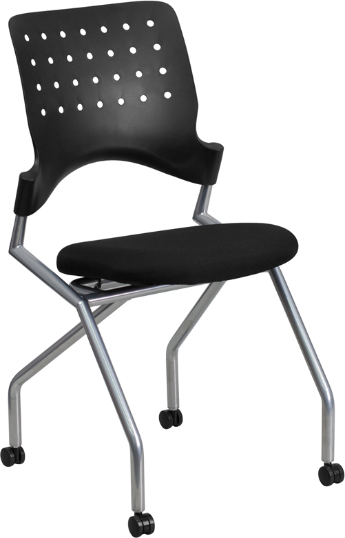 Galaxy Mobile Nesting Chair with Black Fabric Seat