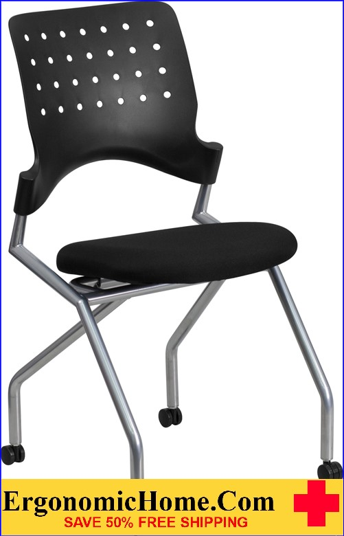 Ergonomic Home Galaxy Mobile Nesting Chair with Black Fabric Seat EH-WL-A224V-GG .