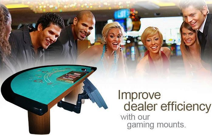 Gaming Table Roulette Arm / Under Desk Monitor Mount  #7020