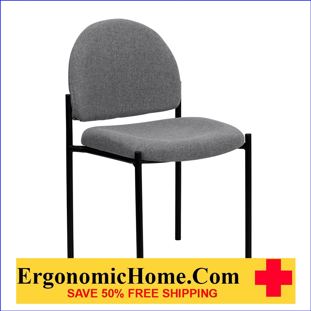 </b></font>Ergonomic Home Gray Fabric Comfortable Stackable Steel Side Chair EH-BT-515-1-GY-GG  <b></font>. </b></font></b>