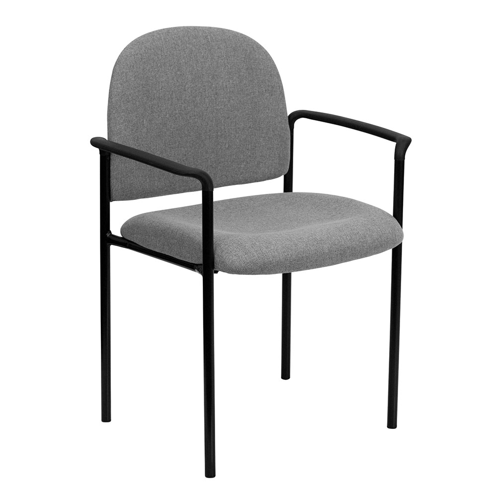 Ergonomic Home Gray Fabric Comfortable Stackable Steel Side Chair with Arms EH-BT-516-1-GY-GG <b><font color=green>50% Off Read More Below...</font></b>