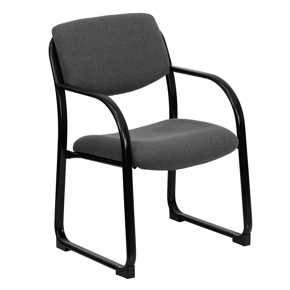 Ergonomic Home Gray Fabric Executive Side Chair with Sled Base EH-BT-508-GY-GG <b><font color=green>50% Off Read More Below...</font></b>