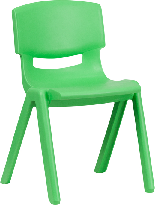 Ergonomic Home Green Plastic Stackable School Chair with 13.25'' Seat Height <b><font color=green>50% Off Read More Below...</font></b>