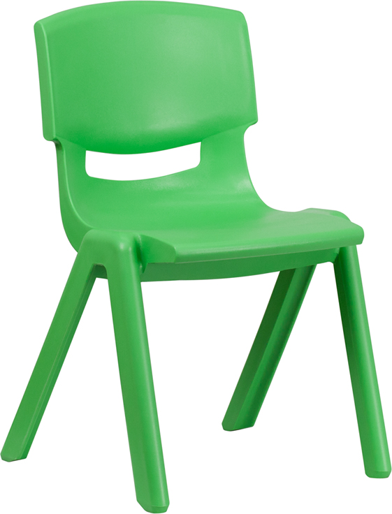 Ergonomic Home Green Plastic Stackable School Chair with 15.5'' Seat Height <b><font color=green>50% Off Read More Below...</font></b>