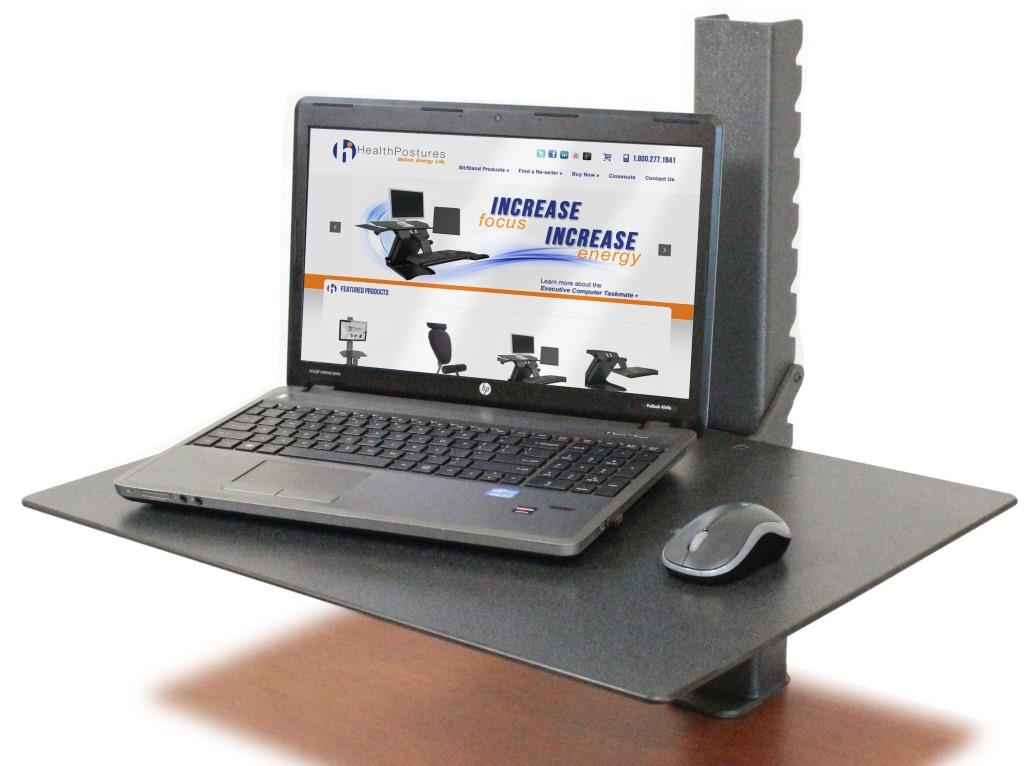 HEALTH POSTURE TASKMATE SURFACE 6450 | Sit To Stand Desk | <font color=#c60>100% Made in USA. BAA & TAA Compliant. Read More Below...</font>