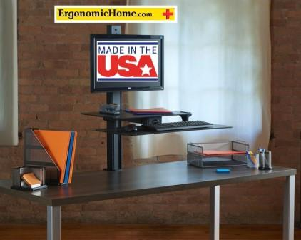 "<b><font color=#c60>Health Postures Slide Adjustable Sit Stand Desk Accessory #6370. Up To 30"" Monitor. 100% Made in USA BAA & TAA Compliant:</b></font>"