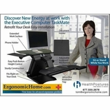Health Postures TaskMate 6100 | Electric Adjustable Monitor Stand