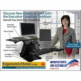 <font color=#c60><b>HEALTH POSTURES TASKMATE SINGLE OR DUAL ELECTRIC ADJUSTABLE MONITOR STAND. 100% MADE IN USA. BAA & TAA COMPLIANT. FREE SHIPPING:</font></b>