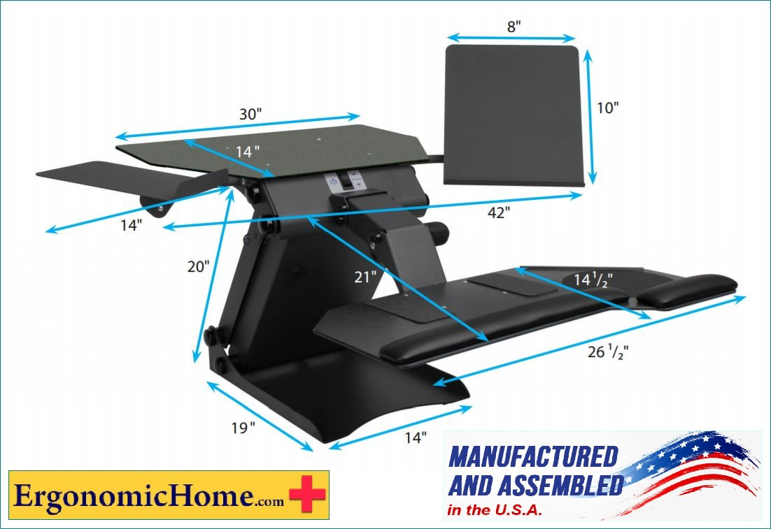 health postures taskmate single or dual electric adjustable monitor stand 100 made in usa baa u0026 taa compliant read more