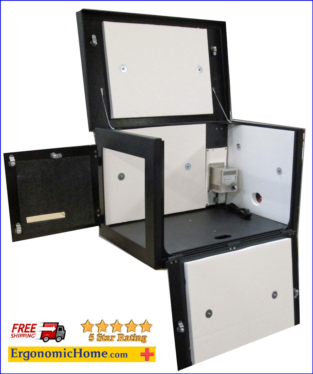 Heated Printer Enclosure For Zebra ZT-420 And ZT-420R. Read More Below...
