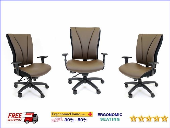 Ergonomic Home RFM Seating Big & Tall - Heavy Duty - 24/7 Big & Tall Task Chair Supports 500 LBS #8526-B-01A <b><font color=green>45% Off!</font></b></font></b>