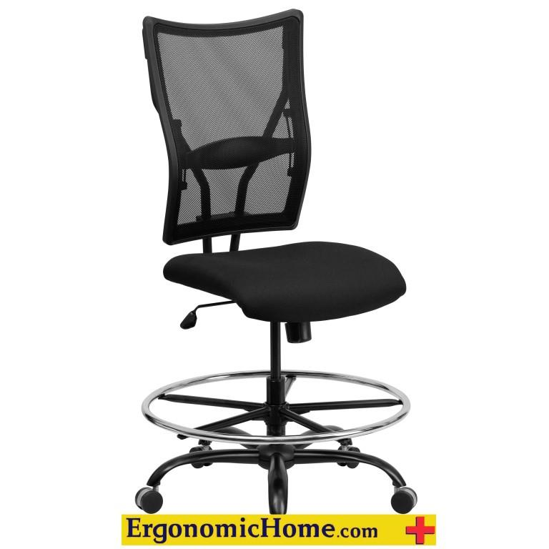 Ergonomic Home Black Mesh Drafting Chair EH-WL-5029SYG-D-GG <b><font color=green>50% Off Read More Below...</font></b>