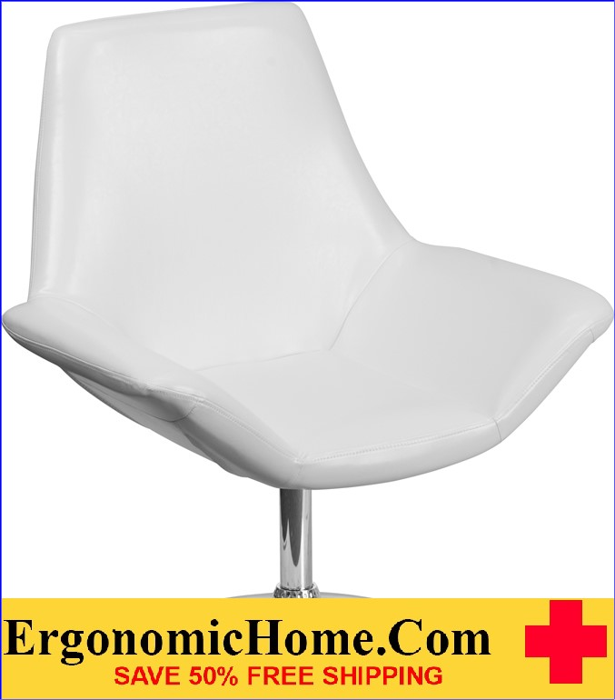 Ergonomic Home TOUGH ENOUGH Sabrina Series White Leather Reception Chair <b><font color=green>50% Off Read More Below...</font></b>