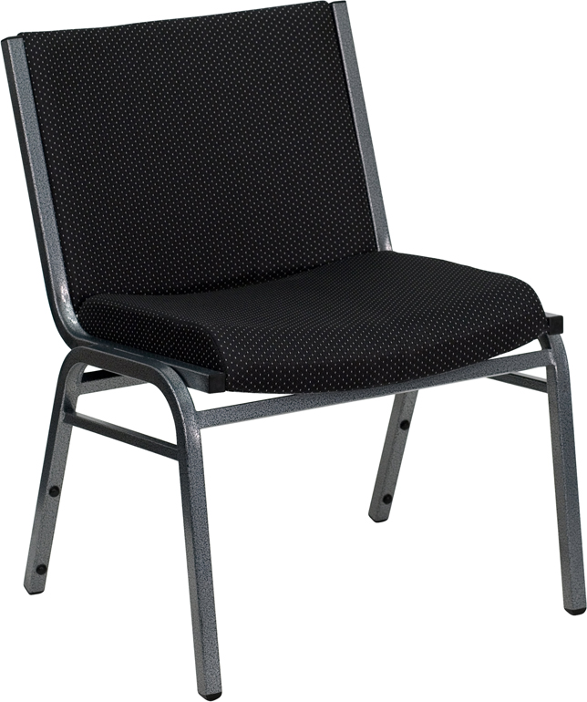 Ergonomic Home TOUGH ENOUGH Series 1000 lb. Capacity Big and Tall Extra Wide Black Fabric Stack Chair with Ganging Bracket <b><font color=green>50% Off Read More Below...</font></b>
