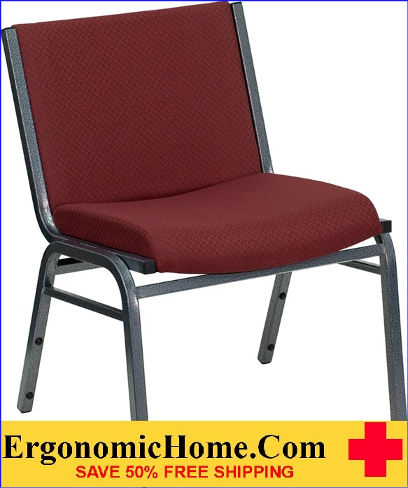 </b></font>Ergonomic Home TOUGH ENOUGH Series 1000 lb. Capacity Big and Tall Extra Wide Burgundy Fabric Stack ChairGanging Chair EH-XU-60555-BY-GG <b></font>. </b></font></b>