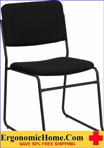 Ergonomic Home TOUGH ENOUGH Series 1000 lb. Capacity High Density Black Fabric Stacking Chair with Sled Base EH-XU-8700-BLK-B-30-GG <b><font color=green>50% Off Read More Below...</font></b></font></b>&#x1F384<font color=red><b>ERGONOMICHOME HOLIDAY SALE</b></font>&#x1F384